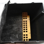 Делаем складку из дорнита - на решетку и вниз на нижнюю грань