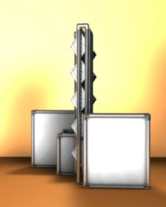 Конструкция вертикального озеленения для создания 2-х стороннего вертикального сада